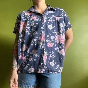Vintage Floral Spool Works Button Up Shirt 🌸